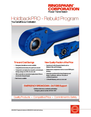 HoldbackPRO® – Rebuild Program